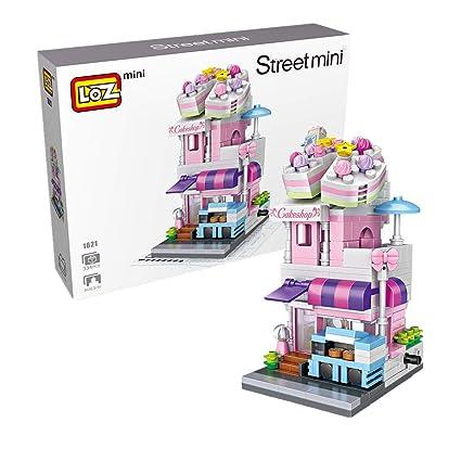 Amazon LOZ Building Block Toys DIY Mini Street Cake Shop