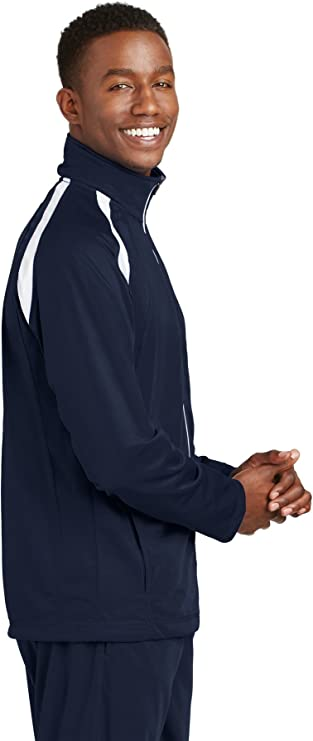 Sport-Tek Men/'s Casual Polyester Tricot Zipper Track Basic Jacket JST90