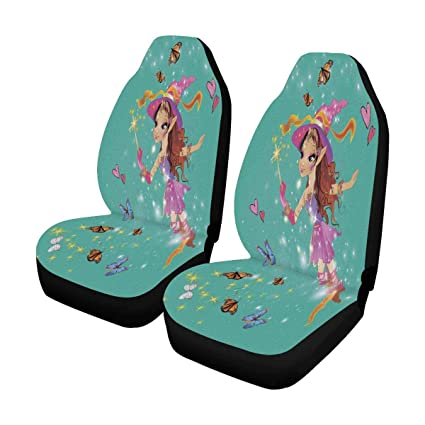 InterestPrint Fairy Elf Front Car Seat Covers Set Of 2 Universal Fit Vehicle Cars