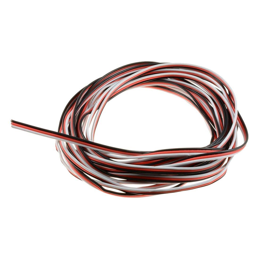 SODIAL(R) 10m Servo Wire Cable 22awg Futaba 3-Pin 140073