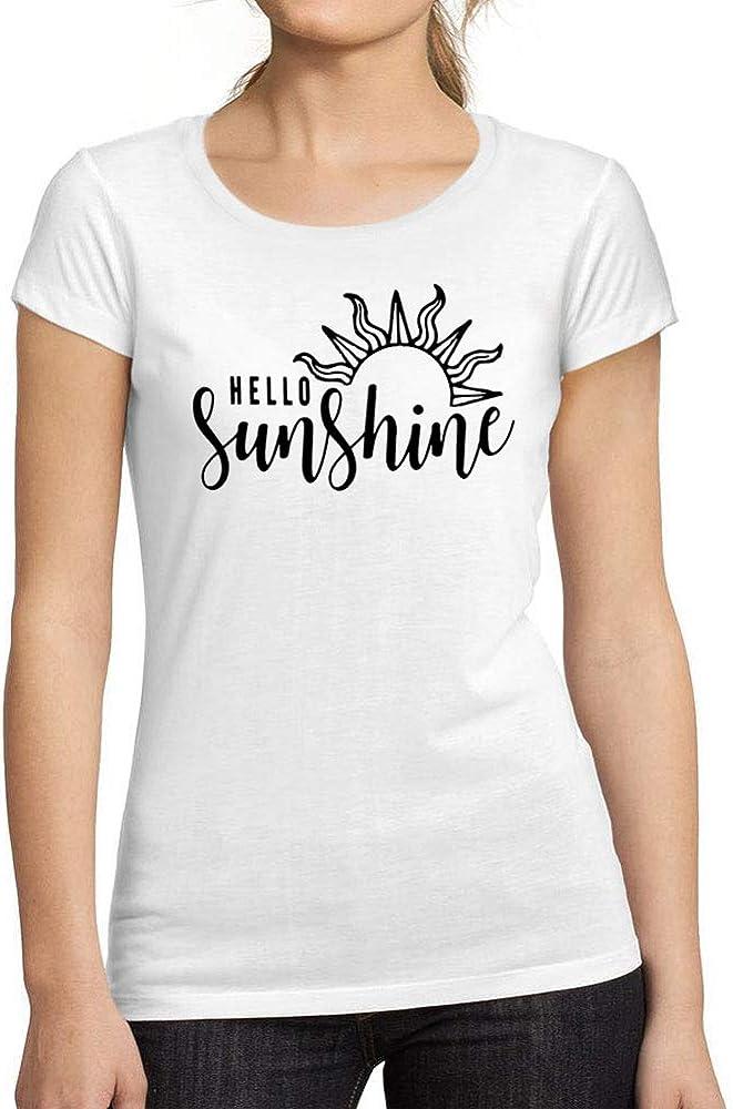 Ultrabasic® Camiseta de Manga Corta de Mujer Hello Sunshine Vintage tee Camiseta de Cumpleaños Idea Blanco: Amazon.es: Ropa y accesorios