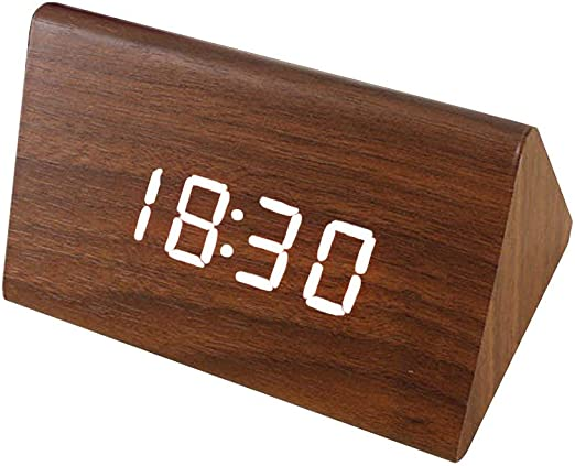 QPllRZZ Reloj Despertador Electrónico Escritorio Calendario Tiempo ...