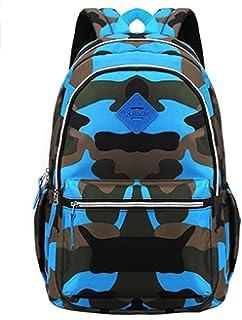 Fanci Flora Camo Prints Waterproof Lightweight Primary School Backpack Bookbag for Boys Girls Teens
