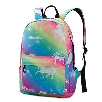 Amazon.com: Unicorn Mochila para adolescentes, niñas ...
