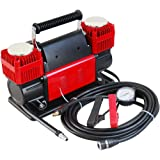 Tire Super Air Flow Portable Car Air compressor 300 Litter/Mints 150 PSI with Carry Color Red