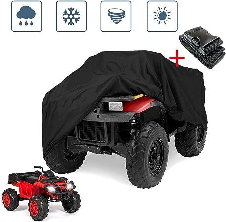 Noir, XXL Housse de Protection B/âche pour ATV Quad Imperm/éable /Étanche Anti-UV Sac de Rangement Inclus