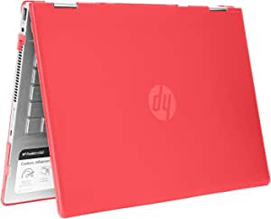 "mCover Hard Shell Case for 14"" HP Pavilion X360 14-CDxxxx / 14-DDxxxx Series Convertible 2-in-1 laptops (Red)"