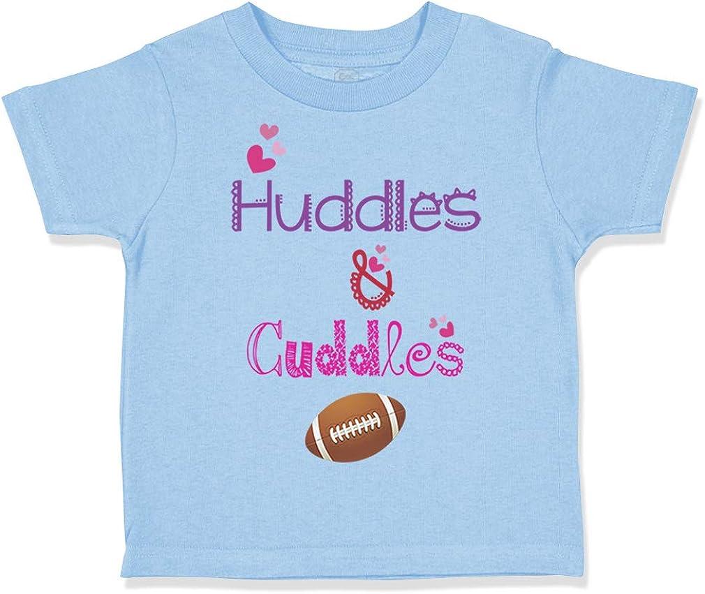 Custom Toddler T-Shirt Huddles Cuddles Football Cotton Boy /& Girl Clothes