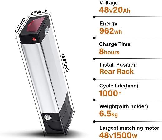 592Wh YOSE POWER Original LG Zellen USB 36V16Ah 3A Ladeger/ät Lithium-ion E-Bike Batterie Schwarz MEHRWEG f/ür Fahrrad Prophete