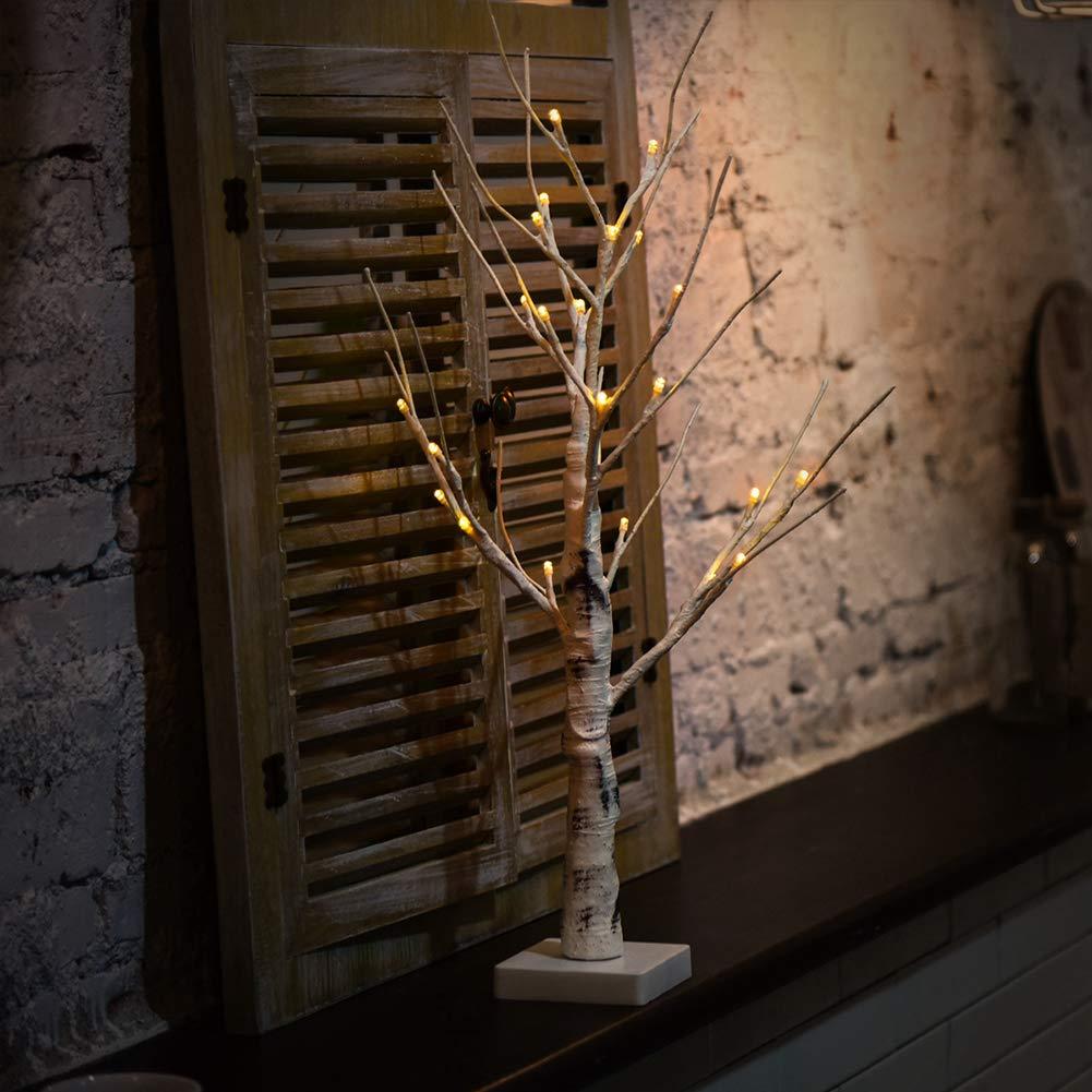 Led Lampe de bouleau Blanc branches durable pour int/érieur et ext/érieur Blanc chaud lumi/ère en bouleau Arbre maison Ornement LED Lampe en bouleau free size blanc