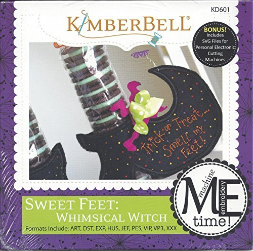 Kimberbell Sweet Feet: Whimsical Witch Machine Embroidery Design