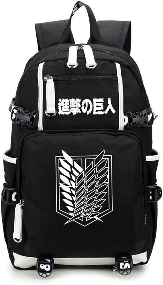 YOYOSHome Luminous Japanese Anime Cosplay Daypack Bookbag Laptop Tasche Rucksack Schultasche mit USB-Ladeanschluss