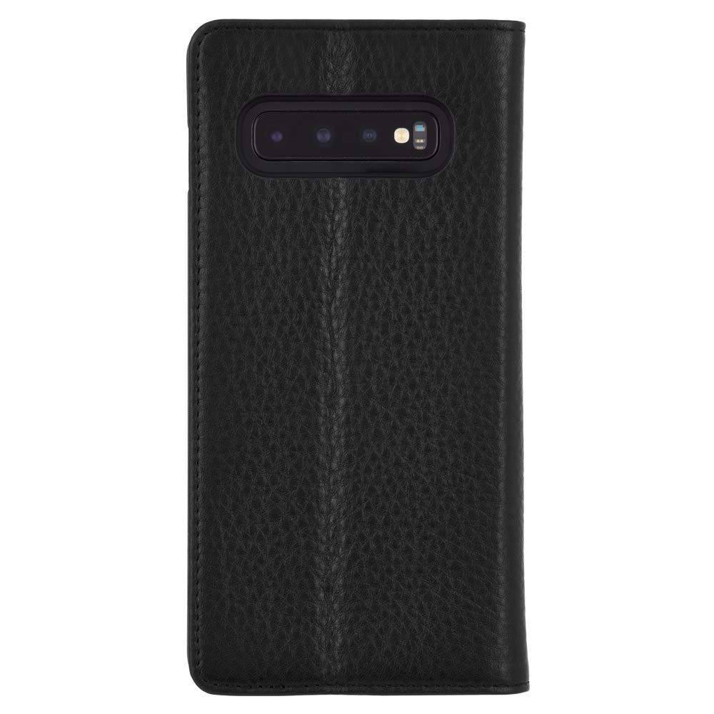 Case-Mate - Wallet Folio - Samsung Galaxy S10 Leather Wallet Folio Case - Black Leather by Case-Mate