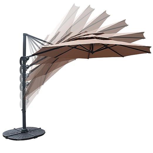 Amazon.com: Sundale 11 ft Offset de para colgar paraguas al ...