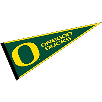 College Flags and Banners Co. Oregon Ducks Pennant Full Size Felt
