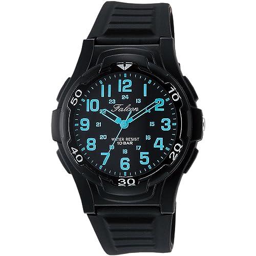 [シチズン キューアンドキュー]CITIZEN Q&Q 腕時計 Falcon ファルコン アナログ表示 10気圧防水 ウレタンベルト ブラック ブルー VP84-852