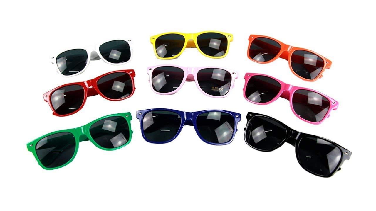 Lote de 100 Gafas de Sol de Colores con Protección UV400 ...