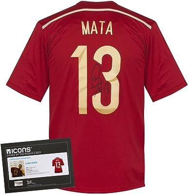 Icon Juan Mata España Home Firmado Camiseta 2014 2015 Rojo Rojo ...