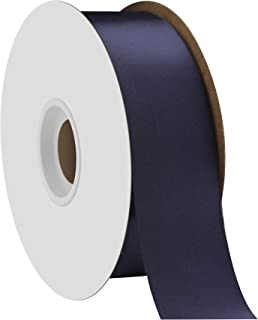 "product image for Offray Berwick 1.5"" Single Face Satin Ribbon, Navy Blue, 50 Yds"