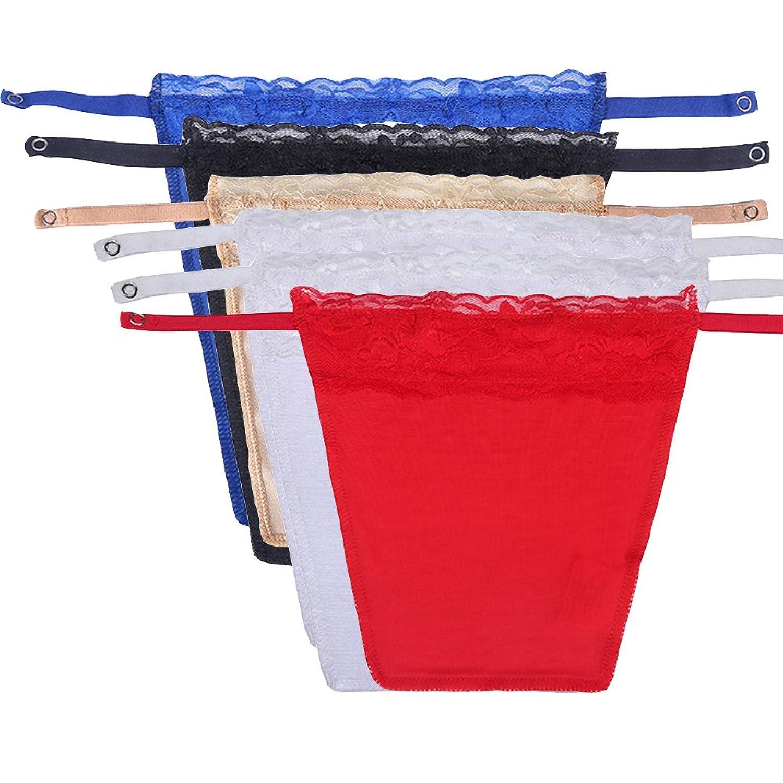 6 paquets Dentelle Clip-on Mock Camisole Recouvrir Modestie Panneau
