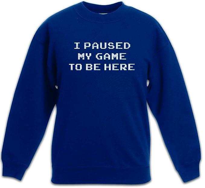 I Paused My Game To Be Here Gamer Sudadera Suéter para Niños Niñas Pullover -: Amazon.es: Ropa y accesorios