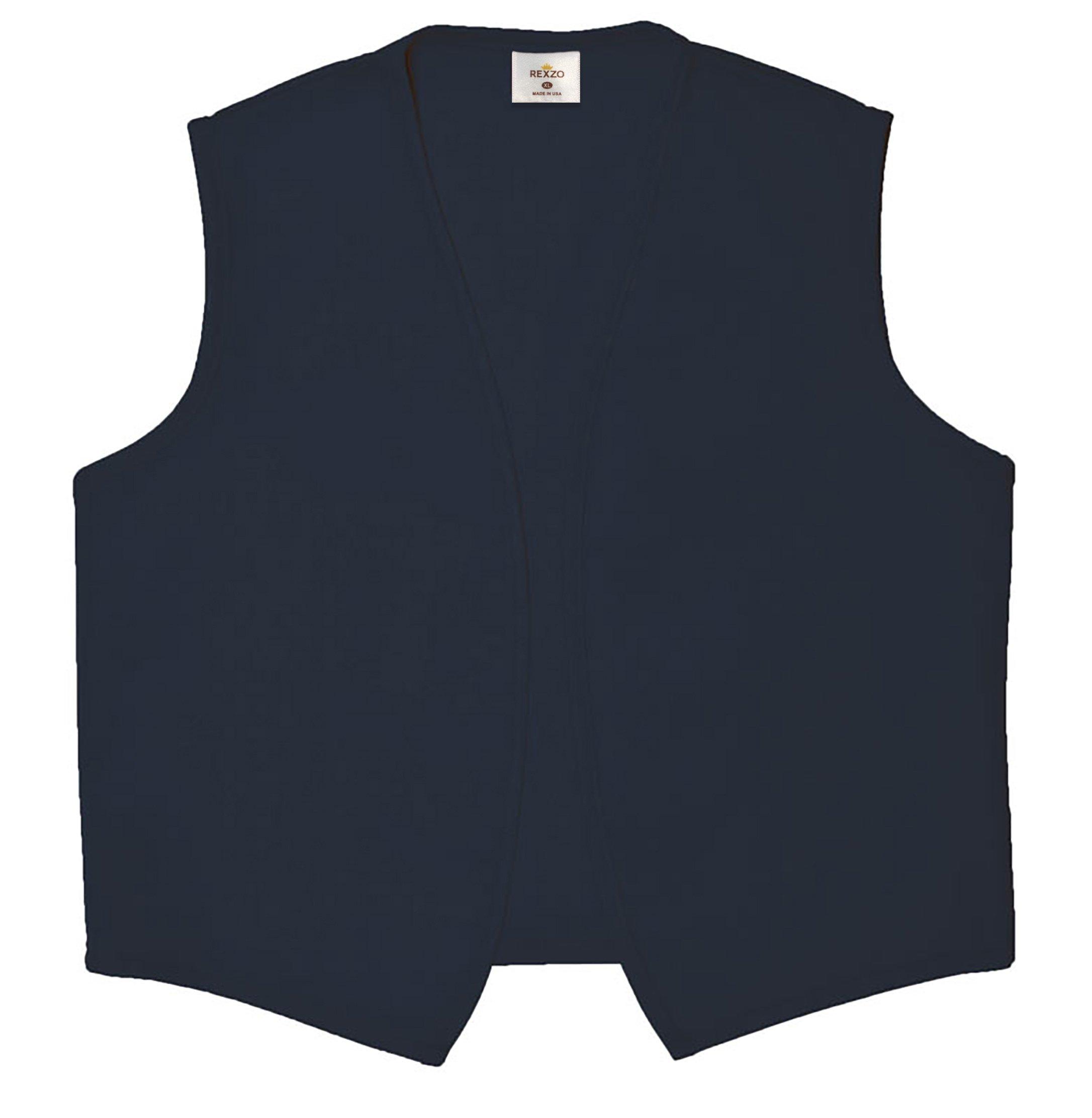 Rexzo Unisex Vest No Pocket No Buttons- Made in The USA - Navy, Medium by Rexzo