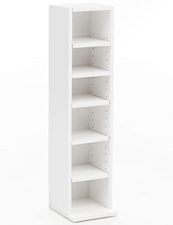 FineBuy Bücherregal FB12009 21x91x20cm mit 6 Fächern Weiß | Standregal Holz  Regal freistehend | Schuhregal Holz Flur | Schmales Wandregal ...