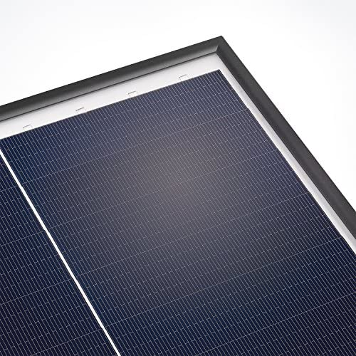 Solarmodul 125 Watt monokristallin 18V mit MC4 Steckverbindungen und neuartiger Schindeltechnik für mehr Leistung, 1031 x 658 x 35 mm Solarpanel esotec 131054