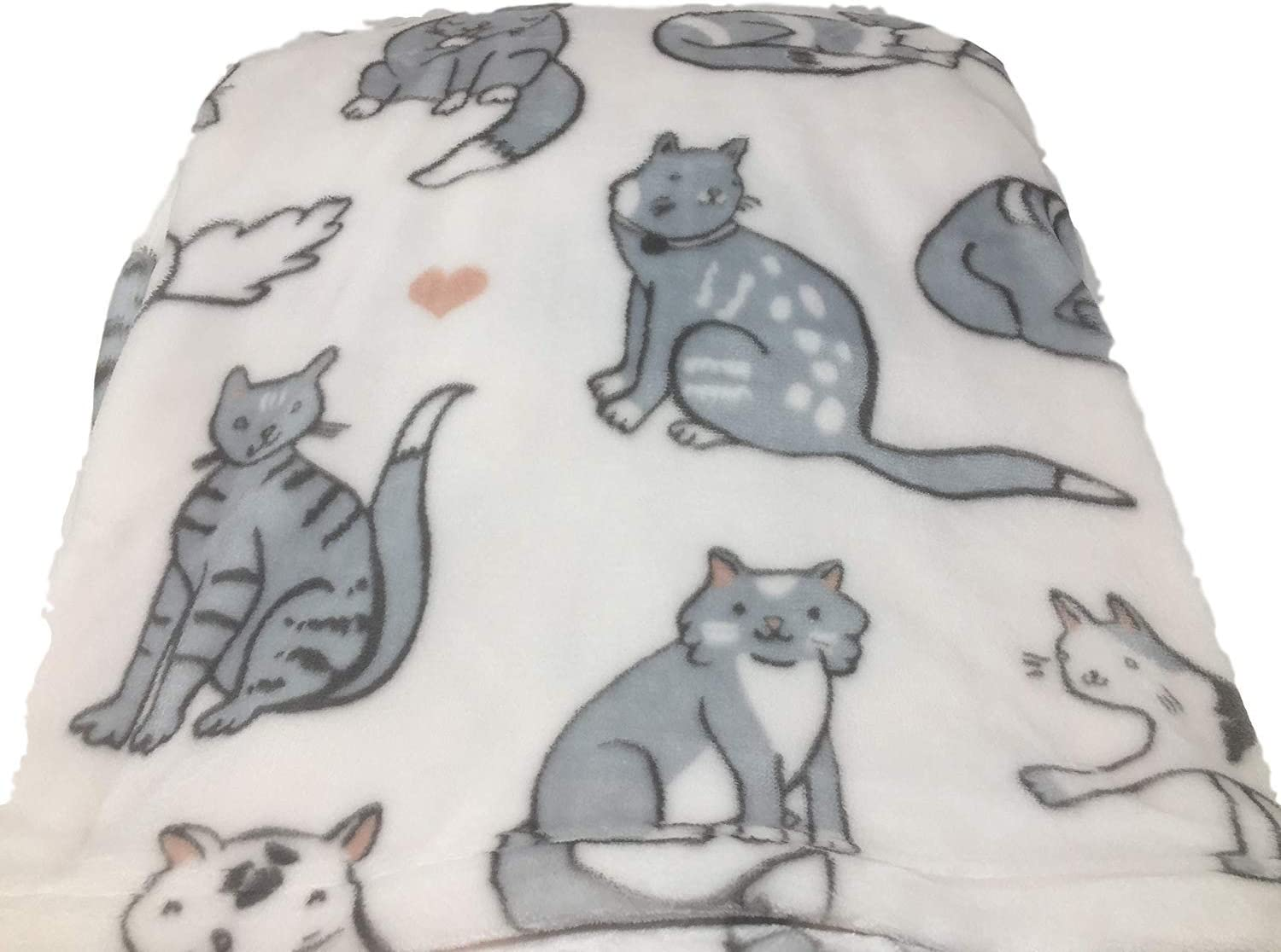 Oversized Cats Soft Plush Throw 60 X 70 Home Kitchen