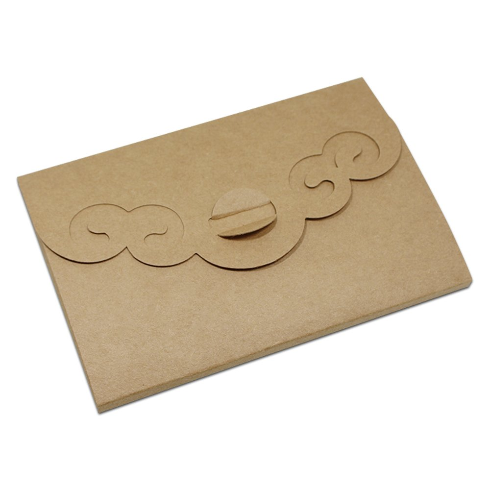 Kraft Paper Blank Visual Postcard Photo Display Greeting Packaging Boxes Cardboard Hollow Out Style Envelope Collections Souvenir Merchandises Packing Box 4.0x5.9+0.2 inch (pack of 230 pcs, Brown)