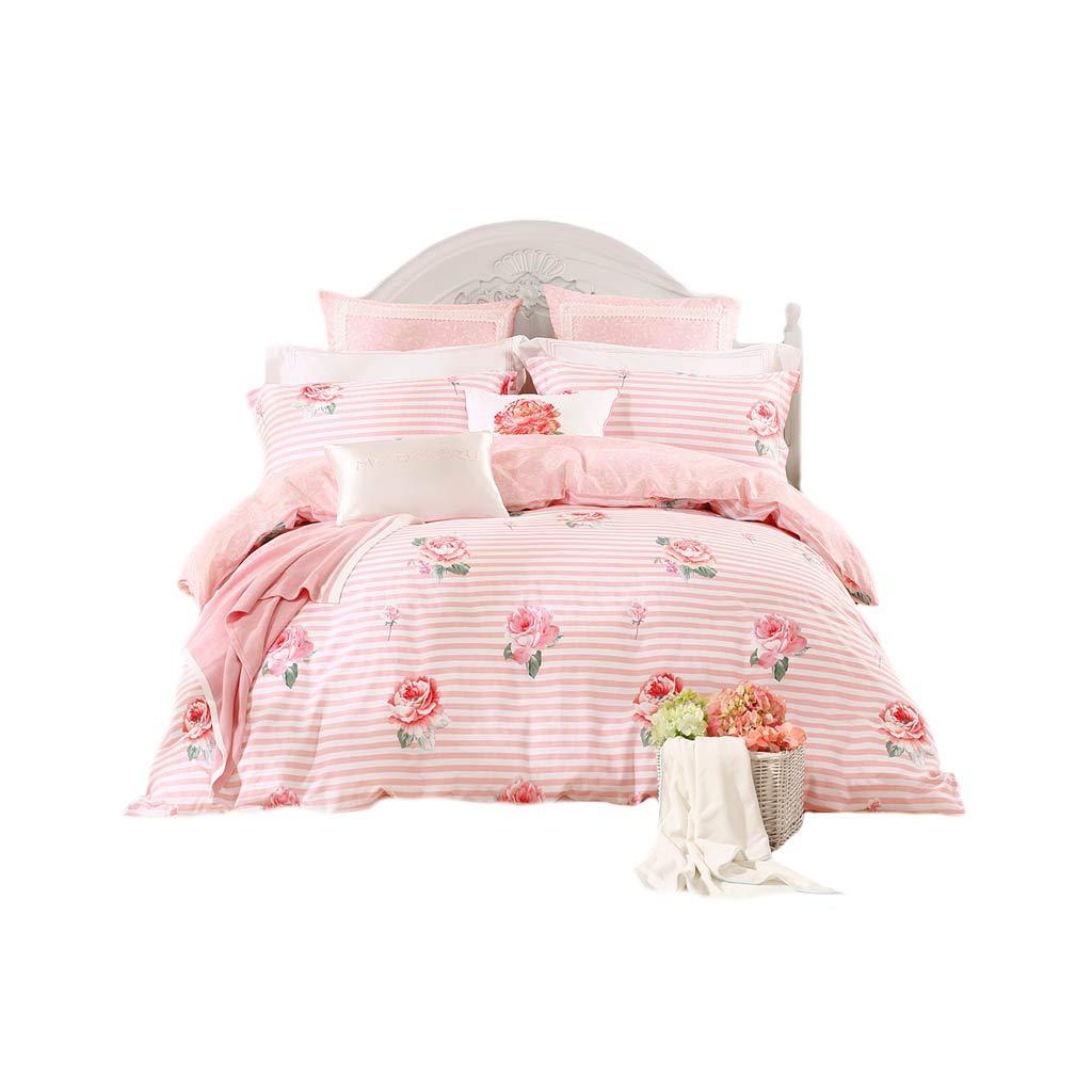 ダブルベッドカバー - 4つの綿の掛け布団カバーのホームベッドのセット (色 : A, サイズ さいず : 6FT) B07G5JTQF2 A 6FT