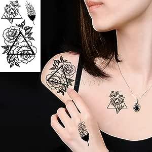 adgkitb 5piezas Pegatinas de Tatuaje Temporal a Prueba de Agua ...