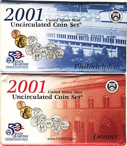 2001 Mint Set 20 Coin P&D Mints Uncirculated (Rhode Island Mint Coin Set)