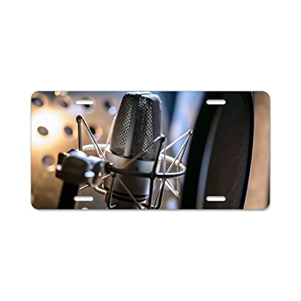 Amazoncom Imtailang Sound Recording Custom Plate Frame Stainless