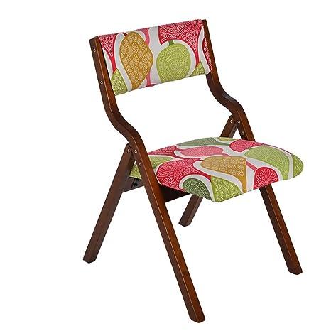 LAXF-taburetes altos cocina sillón Plegable Silla de Madera ...
