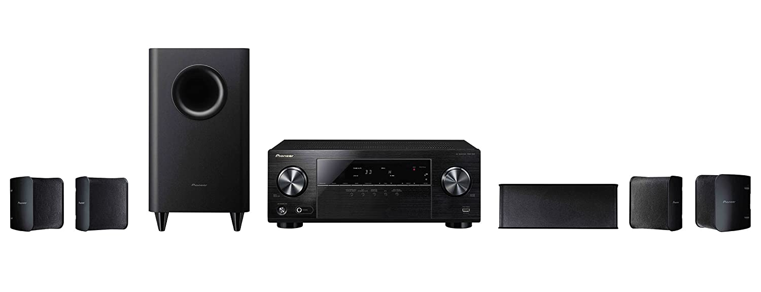 pioneer home theater. amazon.com: pioneer htp-072 5.1-channel home theater system (discontinued by manufacturer): audio \u0026