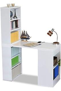 0381df7e62 JKプラン 組み換え ユニットデスク 本棚付き コンパクト 机 シェルフ 付きデスク 100cm幅 書斎机