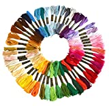 #2: Soledi Embroidery Floss 50 Skeins Embroidery Thread Rainbow Color Cross Stitch Floss