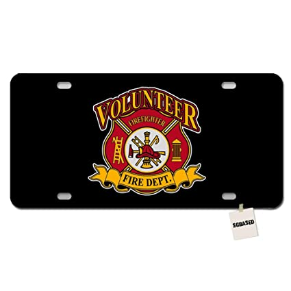 Fire Rescue 6 x 12 Metal License Plate