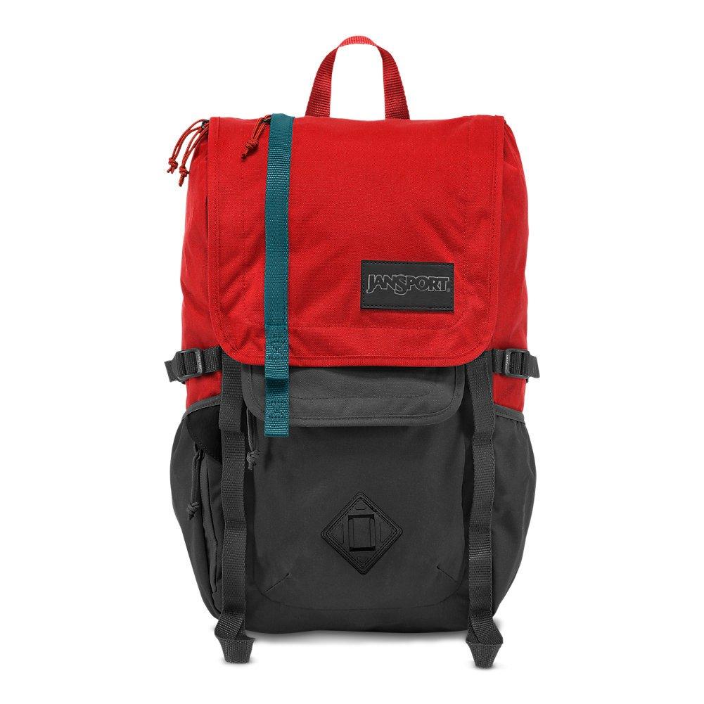 JanSport Hatchet Laptop Backpack - Forge Grey/Red Tape