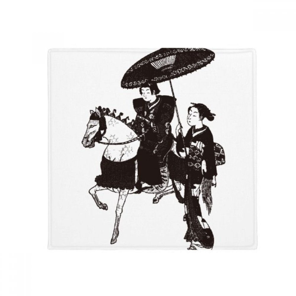 DIYthinker Japan Women Riding Horse Sketch Anti-Slip Floor Pet Mat Square Home Kitchen Door 80Cm Gift