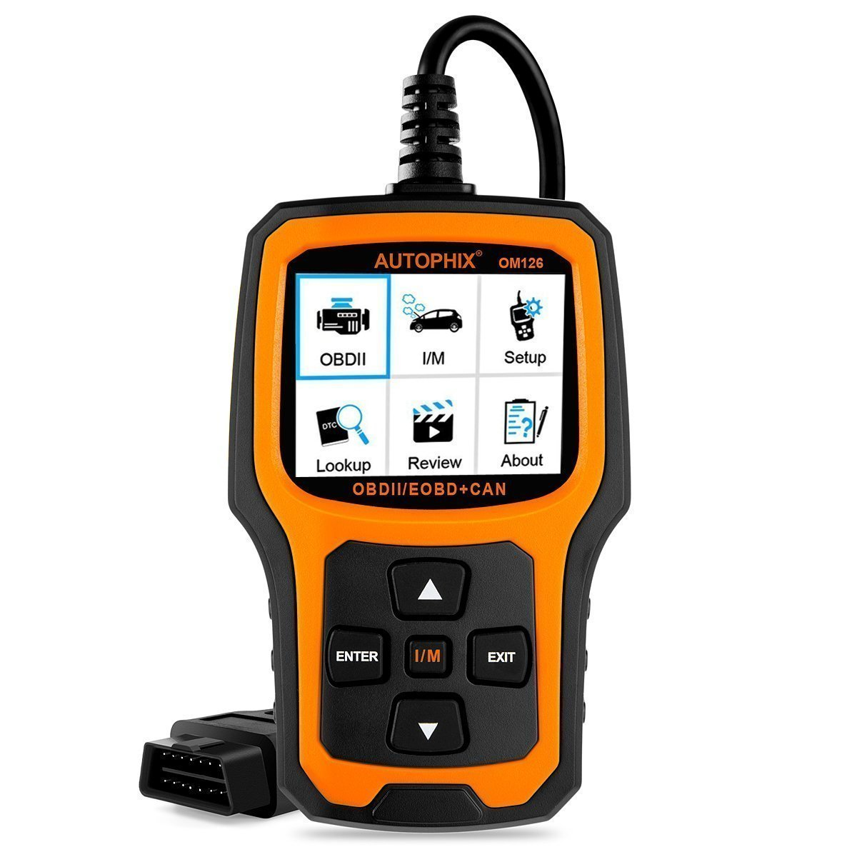 Autophix Code Reader Om126 Obdii Obd2 Scanner Car Engine 1966 Chevy Nova Which Froze With An Alternatorwiring Fault Auto Check Light Can Automotive Diagnostic Scan Tool