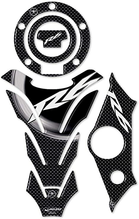 KIT ADESIVI in GEL 3D CARBON LOOK COMPATIBILI per MOTO YAMAHA YZF R6 dal 2017