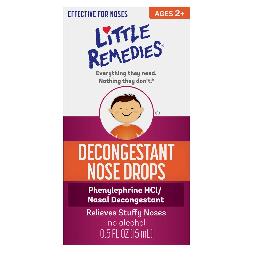 Little Remedies Decongestant Nose Drops | Ages 2-6 | 0.5 Fl. Oz (Pack of 4) by Little Remedies