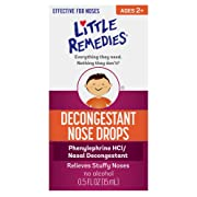 Little Remedies Decongestant Nose Drops   0.5 oz   Pack of 4   Relieves Stuffy Noses   for Ages 2+   Packaging May Vary