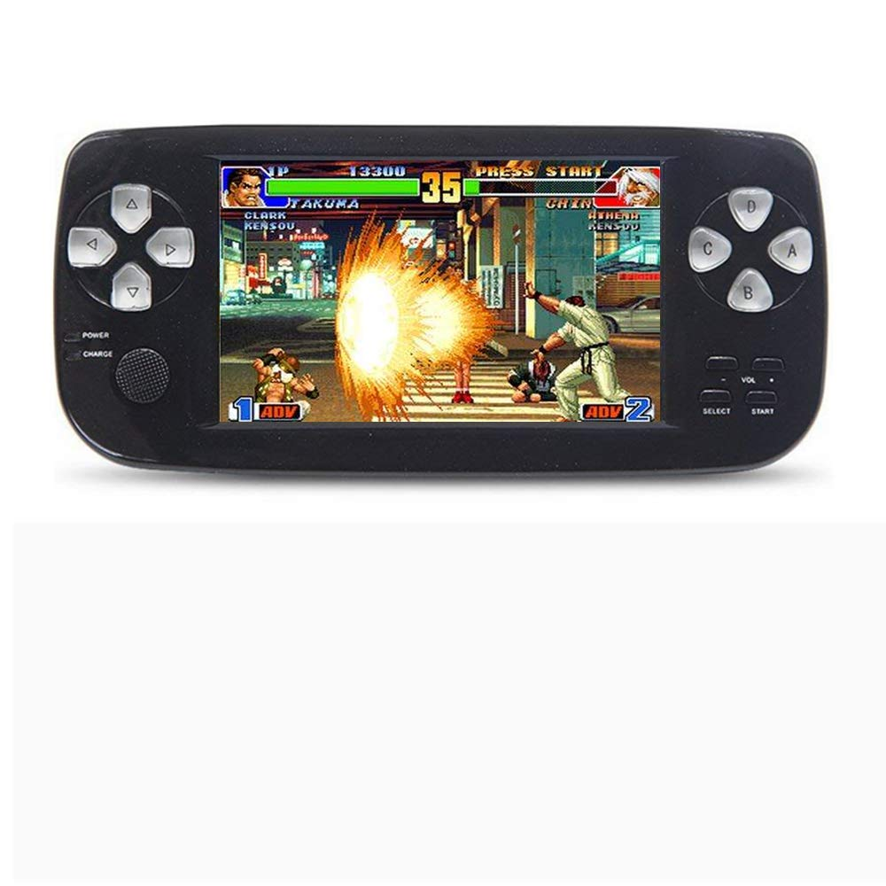 CZT 16GB 4.3 inch Screen Dual core chip Handheld Video Game Console Good Workmanship Build in 3000 Game for NEOGEOCPSGBAGBCGBSFCFCMDGGSMS MP3/4 Detachable Lithium Battery (Black)