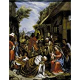 The Perfect effect canvas of oil painting 'Lignis Pietro de La Adoracion de los Reyes Magos 1616 ' ,size: 8 x 10 inch / 20 x 26 cm ,this High Resolution Art Decorative Canvas Prints is fit for Hallway decoration and Home gallery art and Gifts