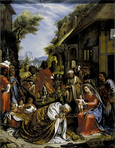Perfect Effect Canvas ,the Best Price Art Decorative Canvas Prints Of Oil Painting 'Lignis Pietro De La Adoracion De Los Reyes Magos 1616 ', 24 X 31 Inch / 61 X 78 Cm Is Best For Dining Room Decor And Home Gallery Art And Gifts