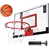 "AW Mini Basketball Hoop 18x12' Over-The-Door/Wall Indoor w/ Pump 5.5"" Ball Set Sport Exercise"