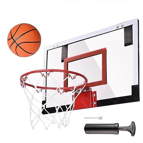 e9953fdd0bf Amazon.com   AW Mini Basketball Hoop 18x12  Over-The-Door Wall Indoor  w Pump 5.5